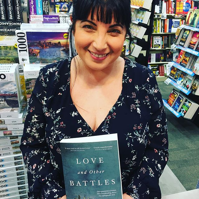 The wonderful Tess Woods at QBD! The reviews have been amazing- I can't wait to read Love and Other Battles for our Facebook bookclub with Rachael Johns - Tess is brilliant at taking difficult subject matter into the pages of her novels - it's going to be a great chat! @tesswoods_author @rachaeljohnsauthor @qbdbooks #writerfriends #womenwriters #fiction #loveandotherbattles