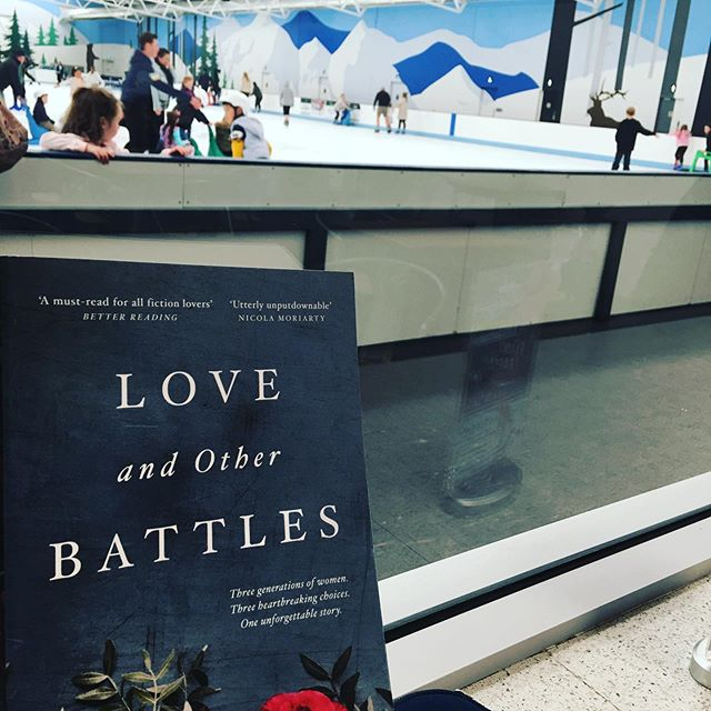 Sunday arvo ice skating with @tesswoods_author ! Two fab books in a day - Love and Other Battles is this month's book for the @rachaeljohnsauthor Facebook bookclub - it's such a great read - can't wait to discuss it with Rach and Tess! 😍🥂🥂#loveandotherbattles #authorfriends #womenwriters #aussieauthors #bookclub #aussiefiction #authorsofinstagram