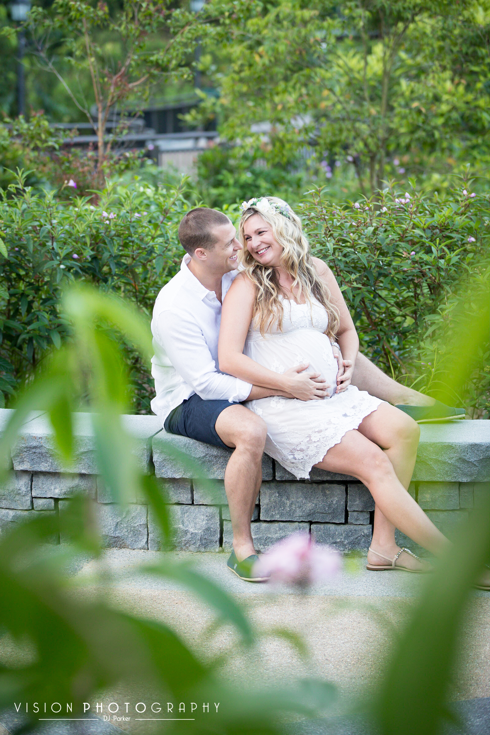 Outdoor maternity Botanic Gardens colour