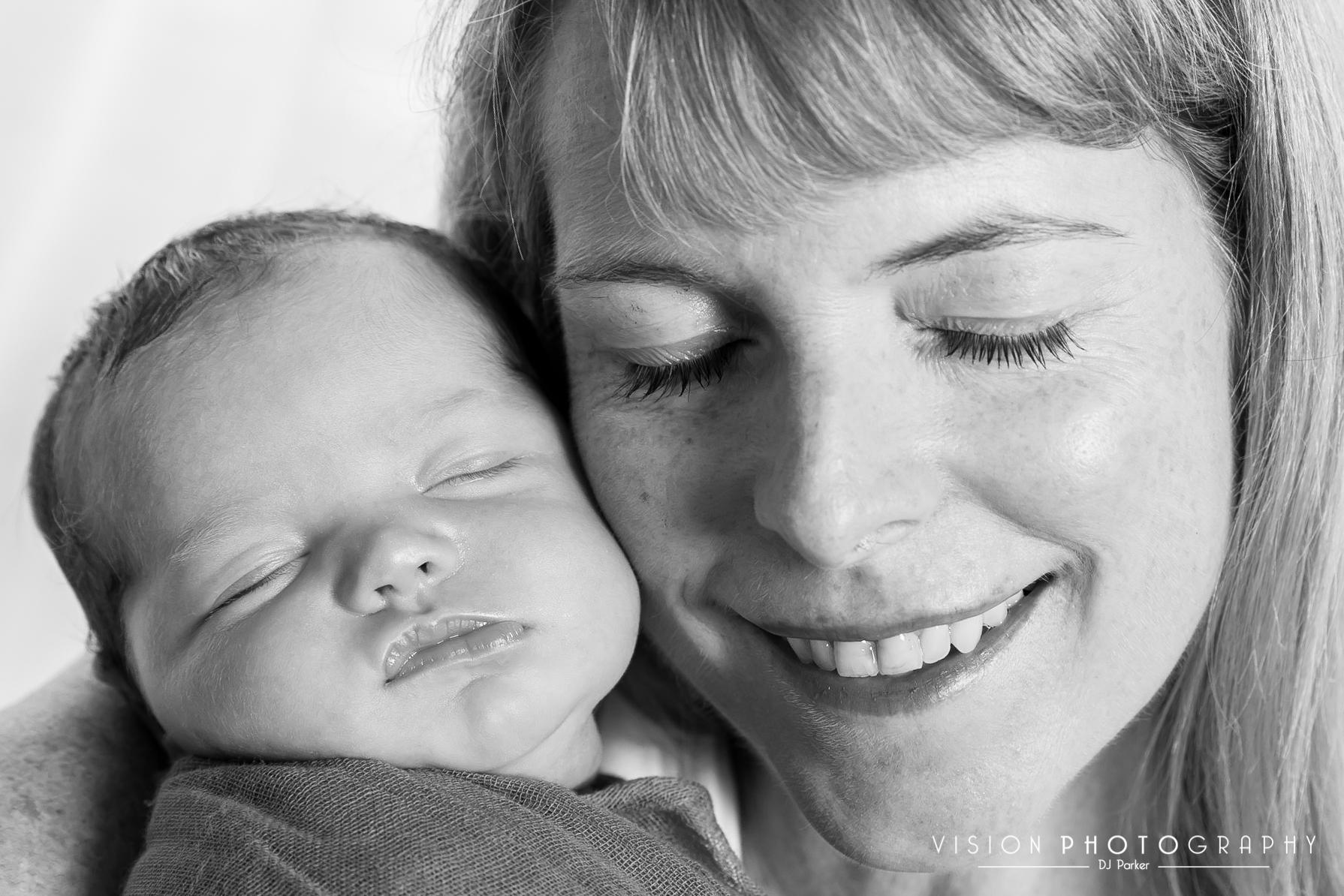 Newborn studio photography white background