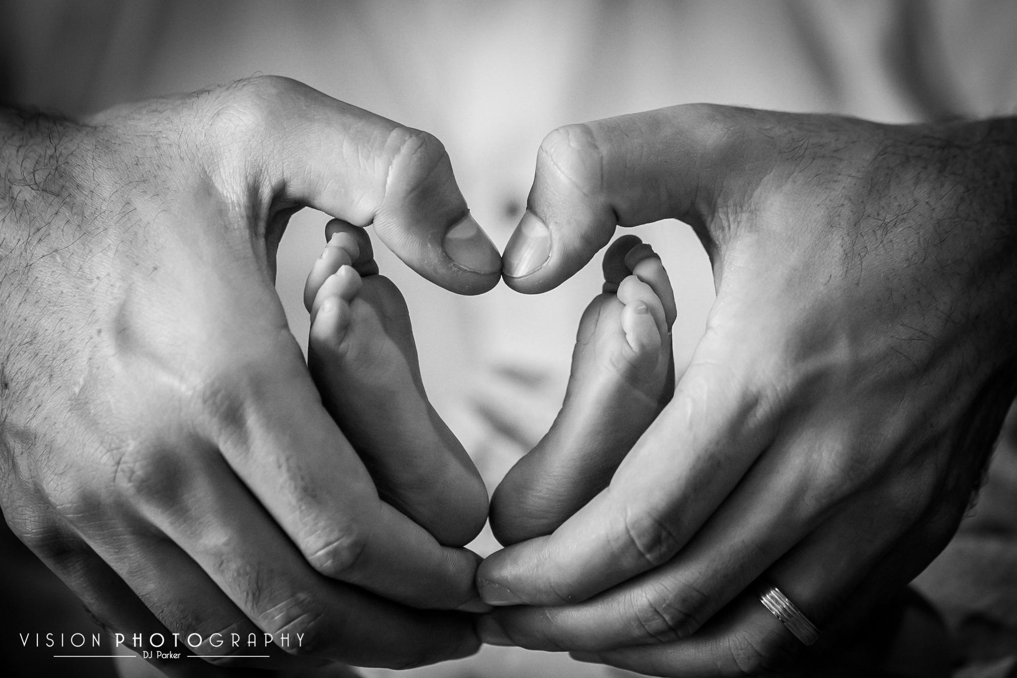 Newborn studio photography macro shot