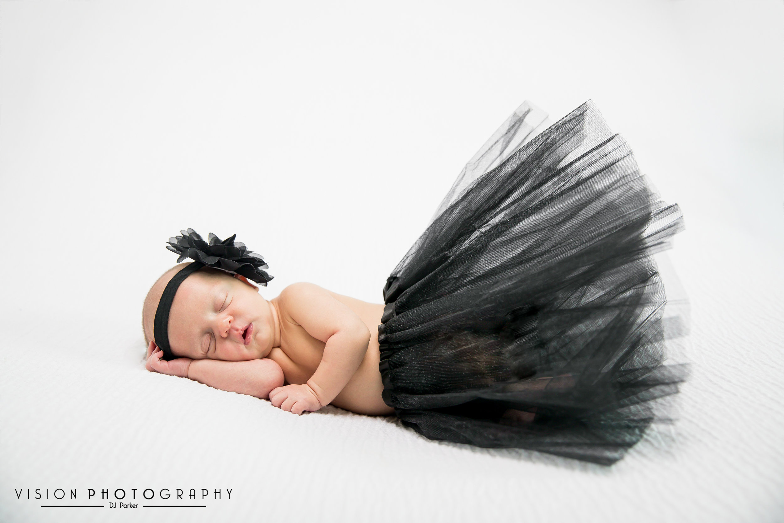 Newborn studio photography bean bag poser
