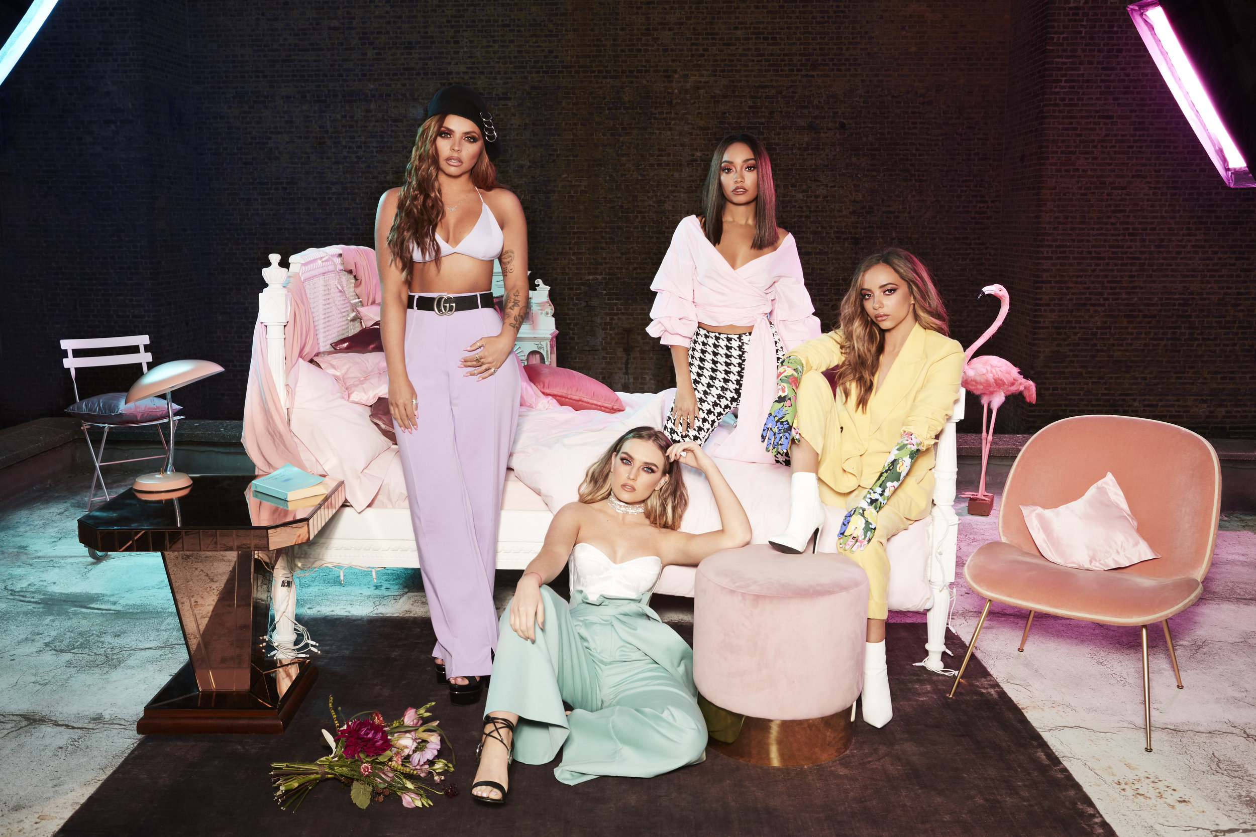 L-R Jesy Nelson, Perrie Edwards, Leigh-Anne Pinnock, Jade Thirlwall