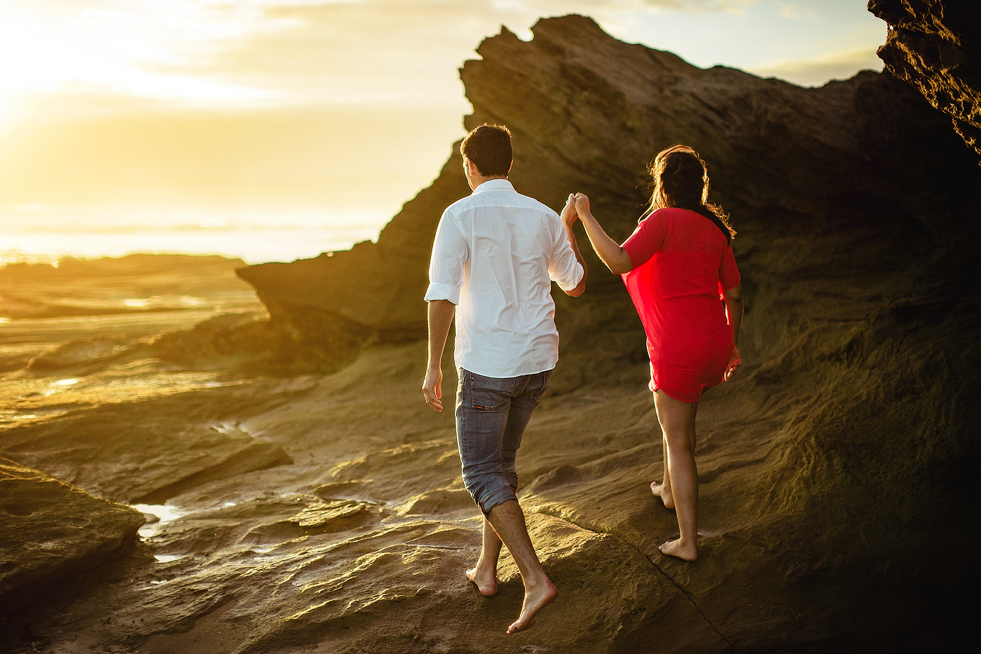 Garden Route Beach Engagement Shoot - Andries & Amira