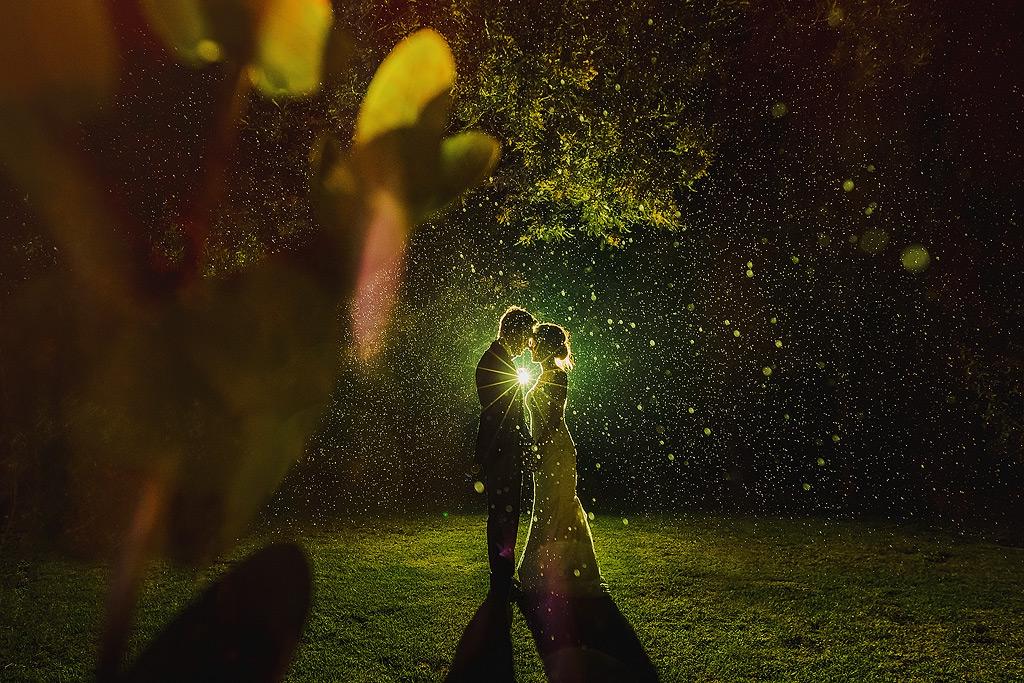 Rain Wedding Portraits