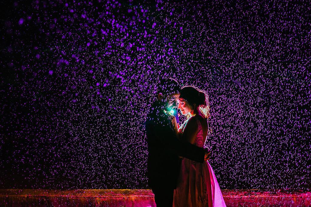 Rainy Wedding Night Portraits