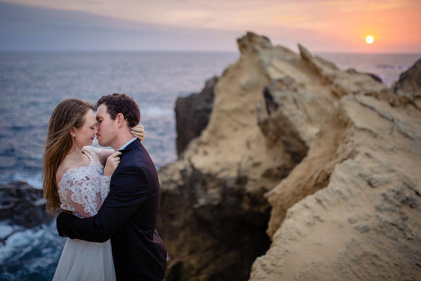 Epic Wedding Couple Sunset Portraits