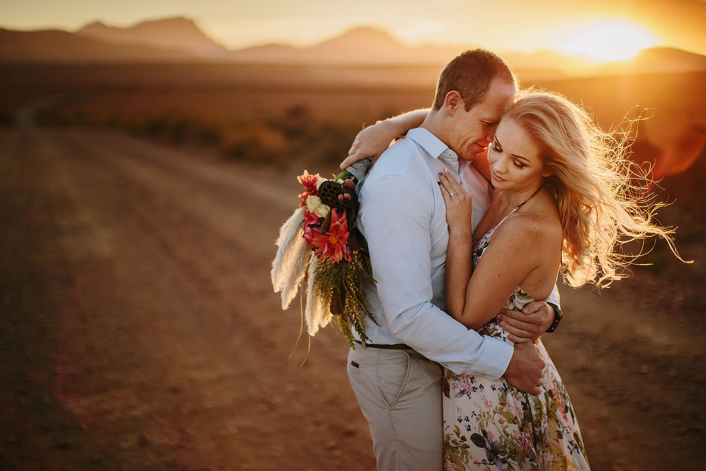 Intimate Karoo Engagement Photo's