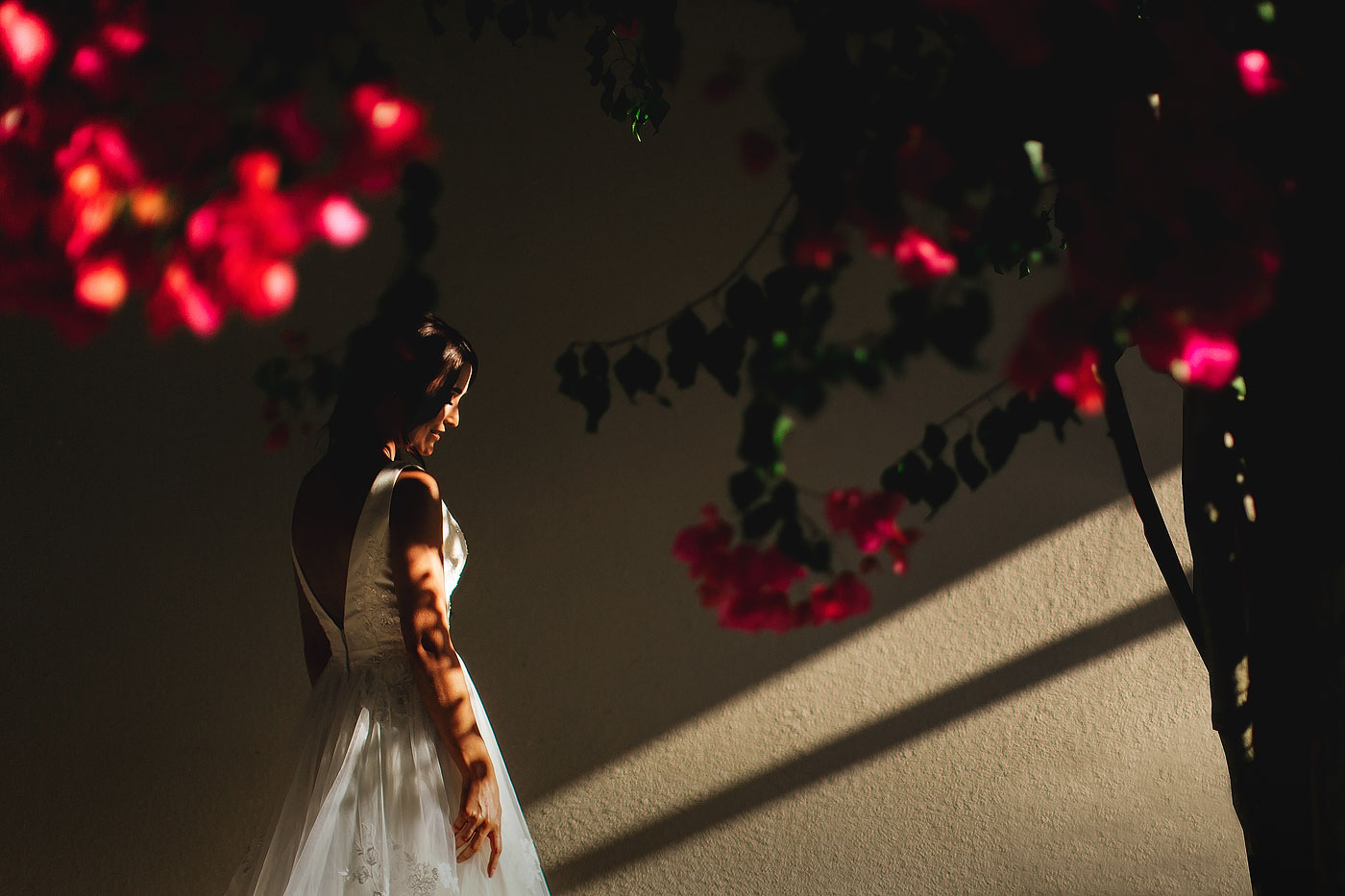 Creative Bride with Flowers Photo