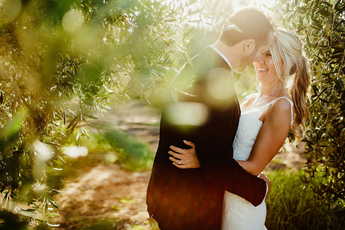 Original Wedding photo in an Olive Orchard