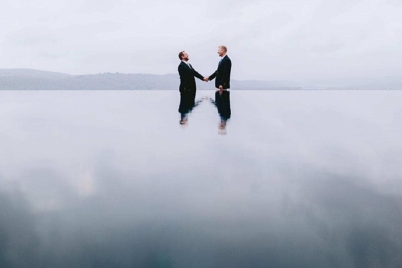Gay Wedding Creative Photo