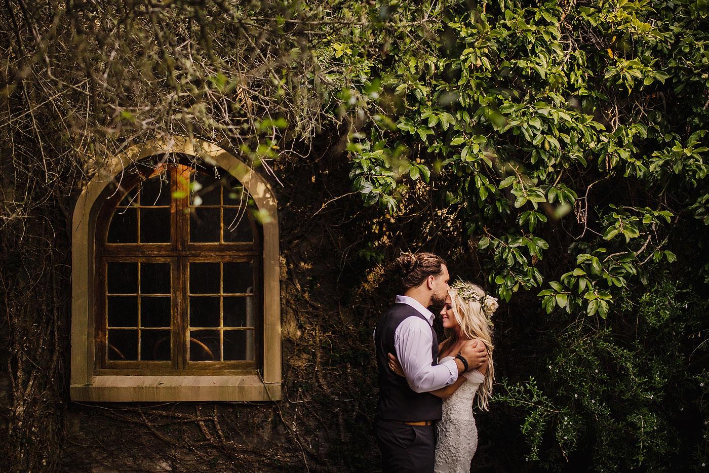Intimate Forest Wedding Portrait