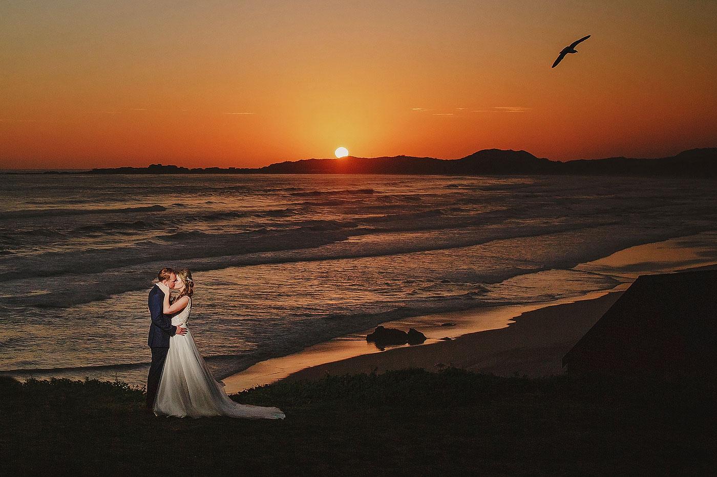 Sunset Wedding Couple Photograph