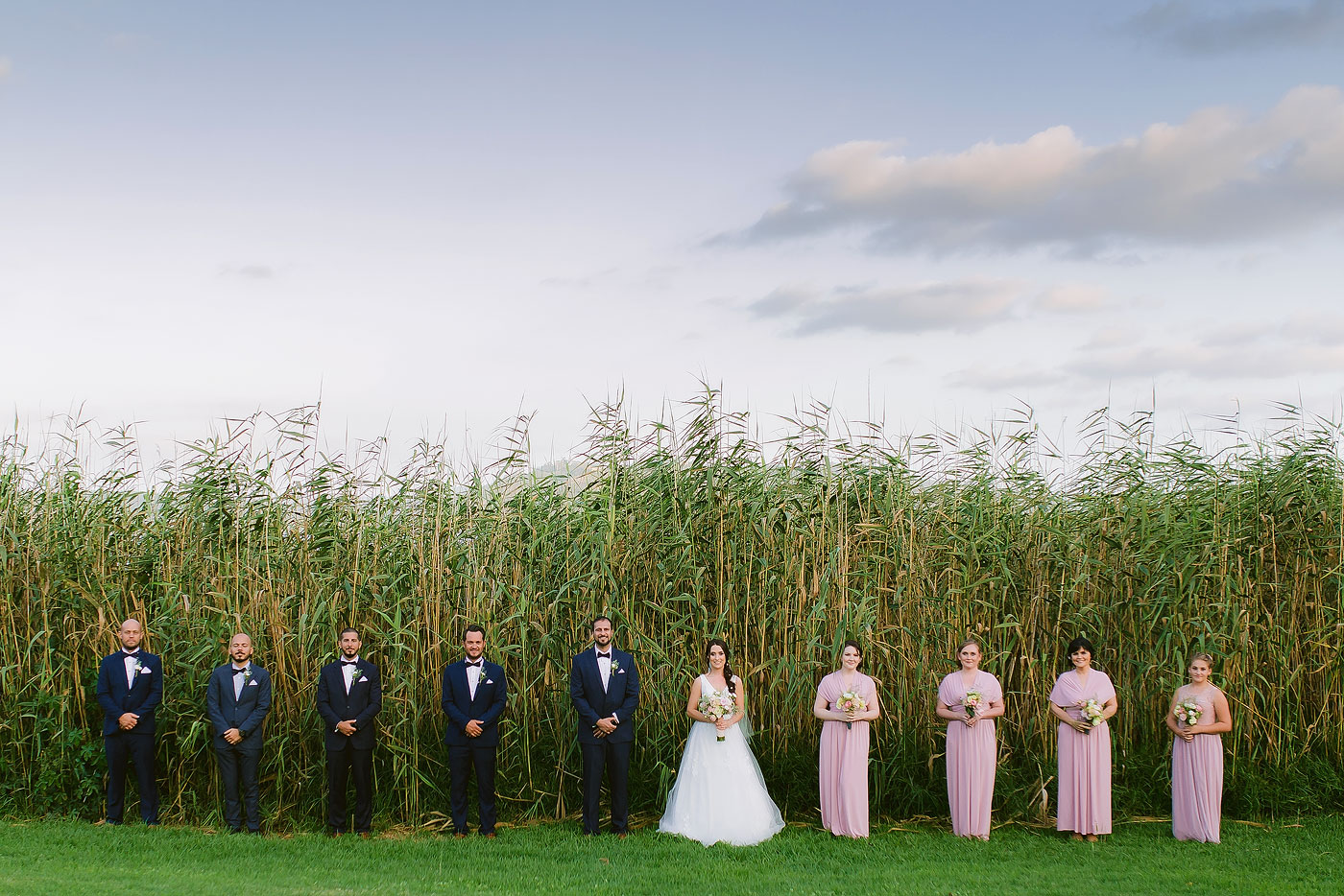 Creative and Elegant Bridal Party Portrait