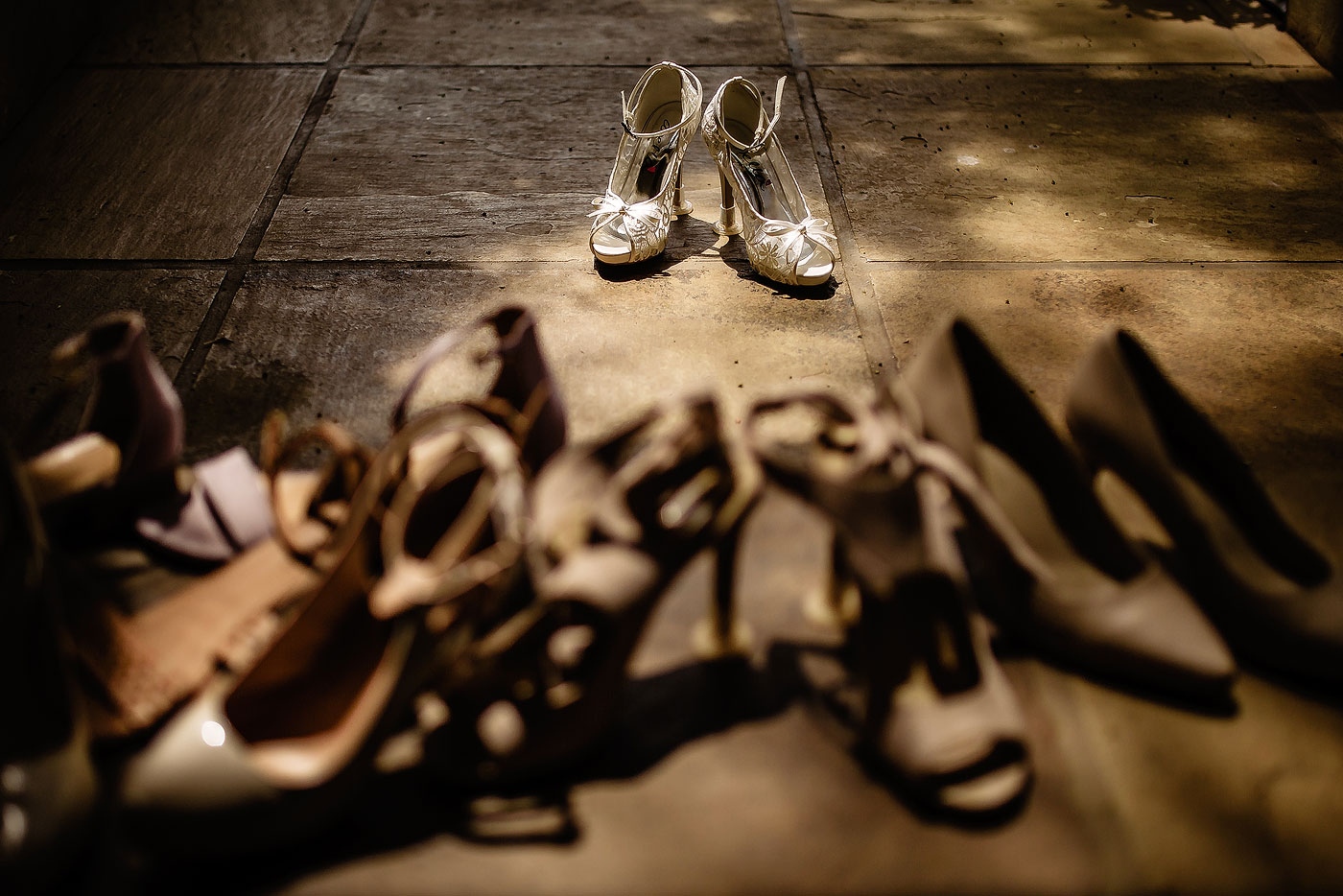 A Collection of Wedding Shoes.