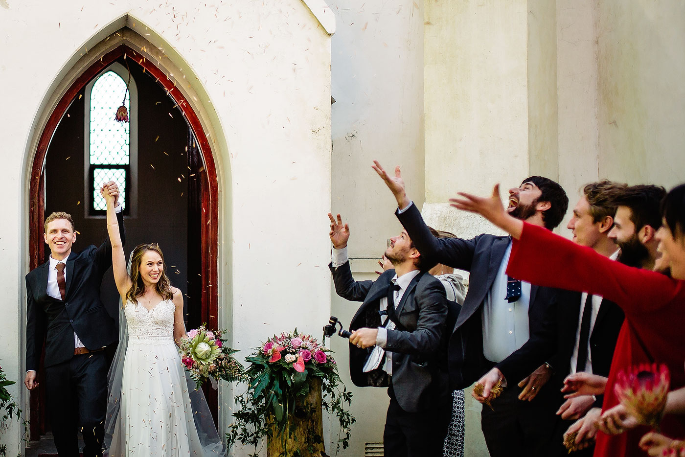 Wedding Confetti Exit