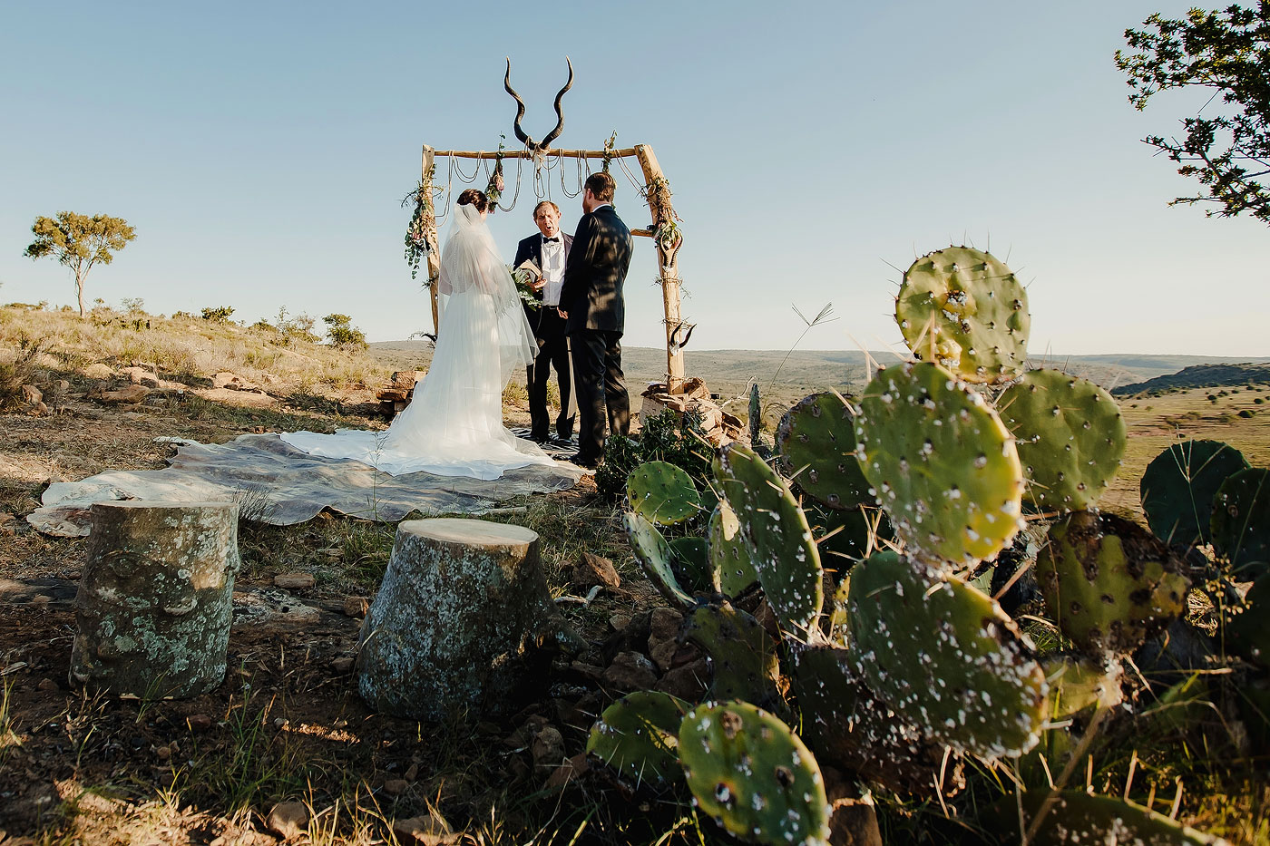 African Elopement Wedding Ceremony