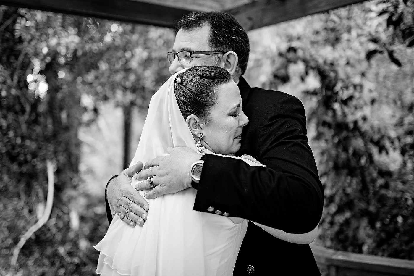 Bride and Her father emotional moment