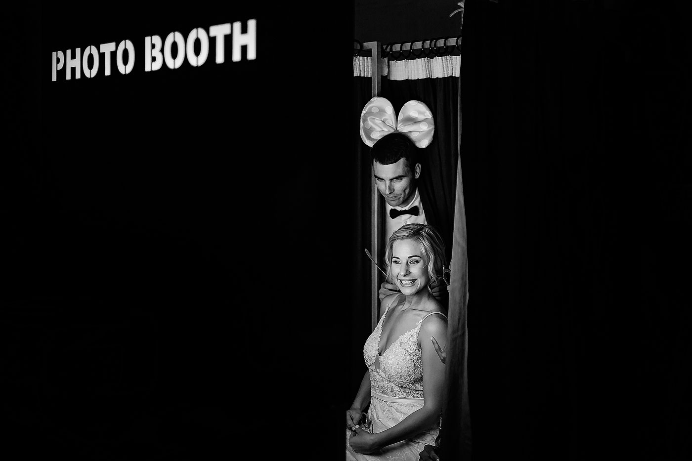 Funny Wedding Moment with a Photobooth