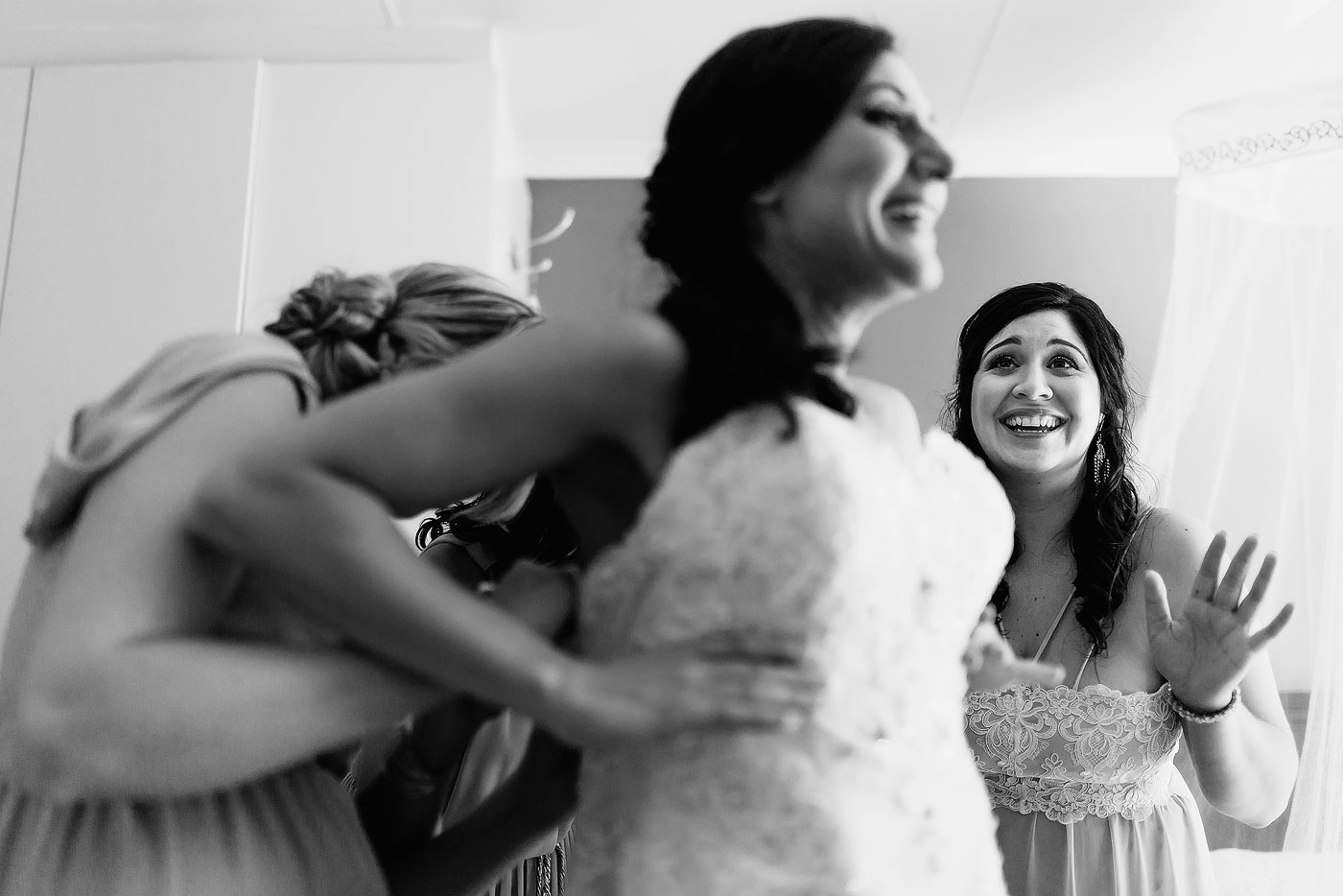 Bride Jokes and Laughter in the Dressing Room