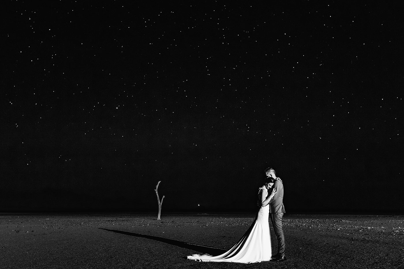 Namibia Milky Way Dessert Wedding Photo