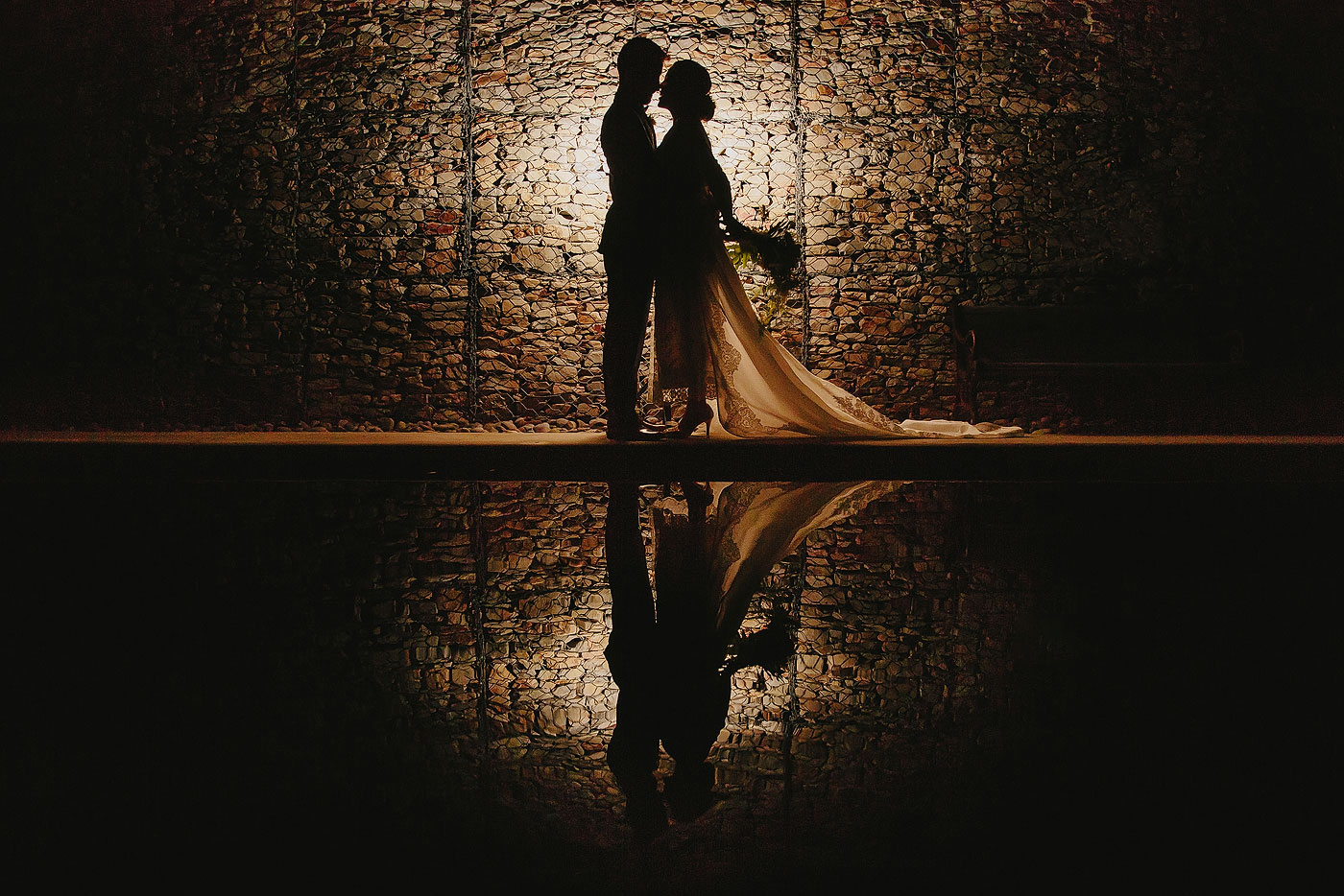 Creative Wedding Portraits at Night