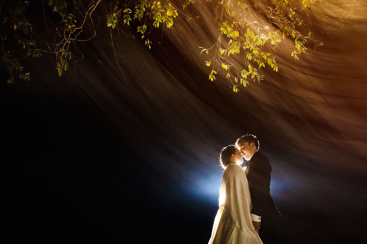 Creative Night Time Wedding Photography
