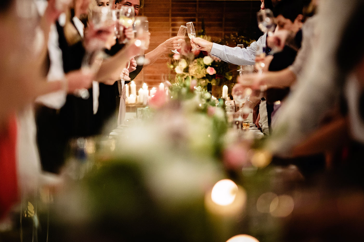 Wedding Toast with Champagne Glasses
