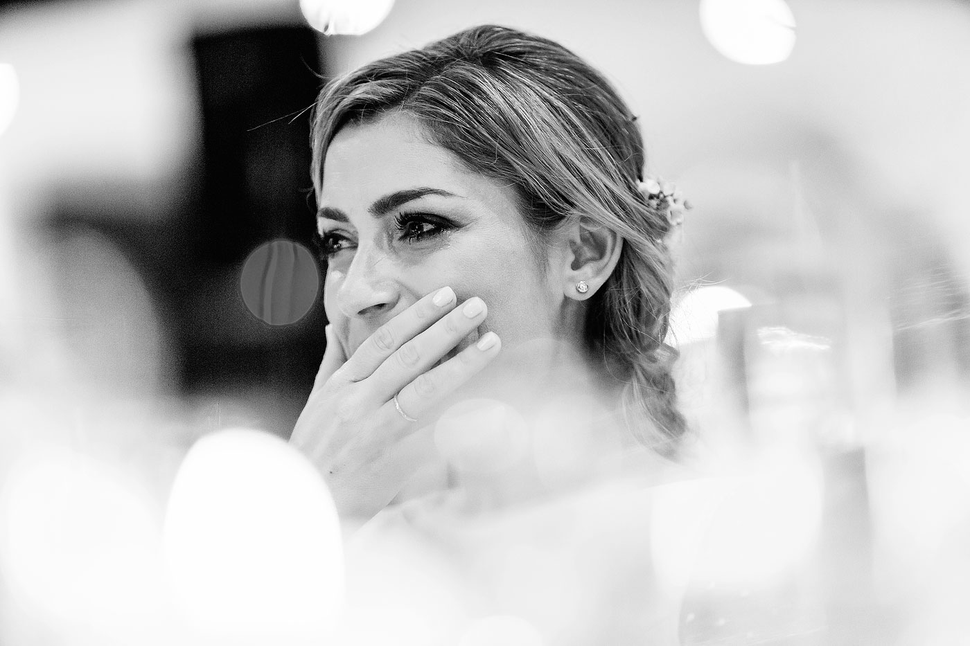 Bride Reaction during wedding toasts