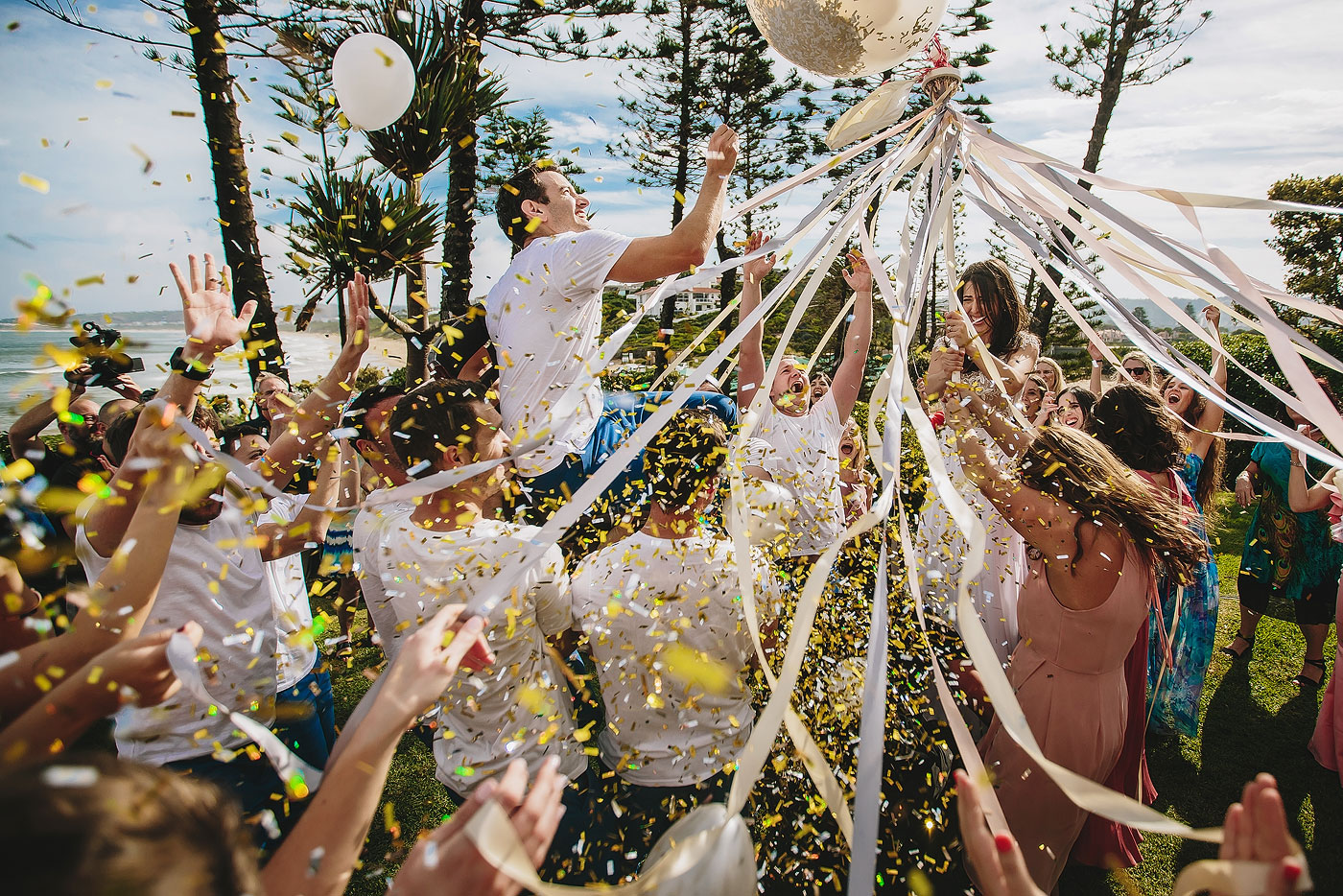 The Hora Balloon at a South African Jewish Wedding