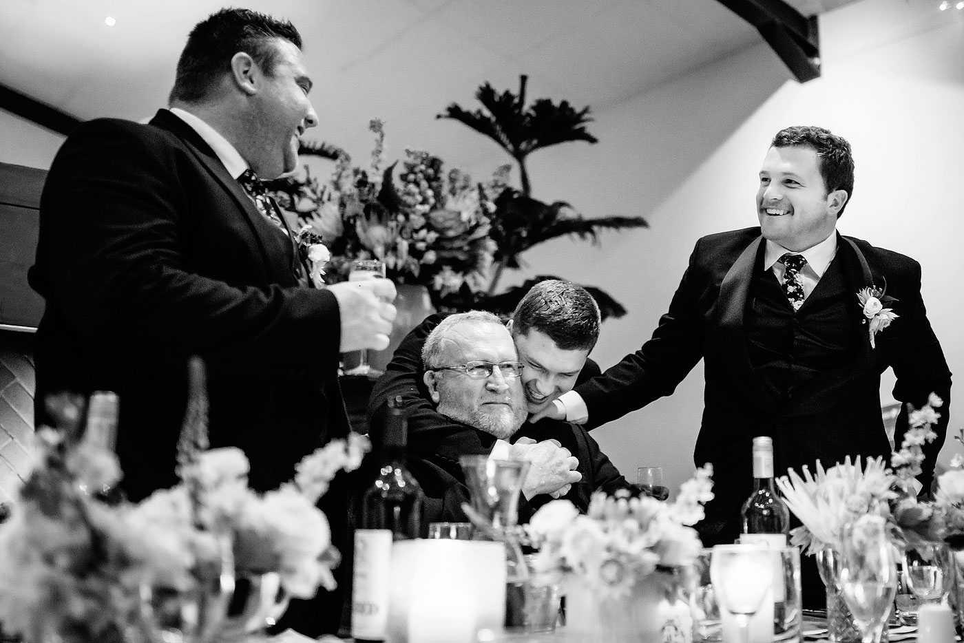 Father and Sons at the wedding in Plettenberg Bay