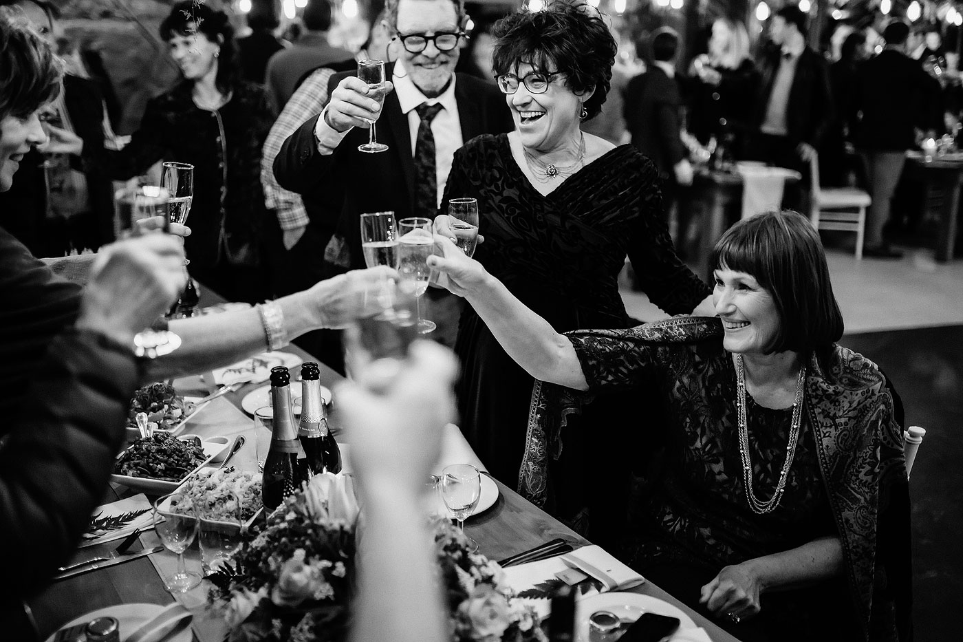 Wedding Toast with mother of the bride