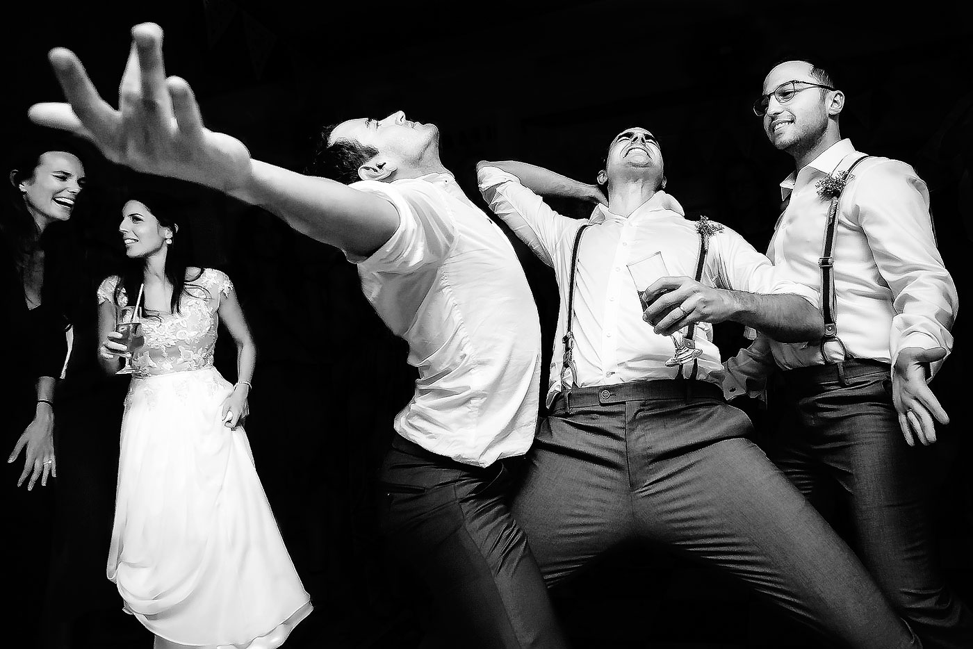 Guys dancing at Jewish Wedding in South Africa