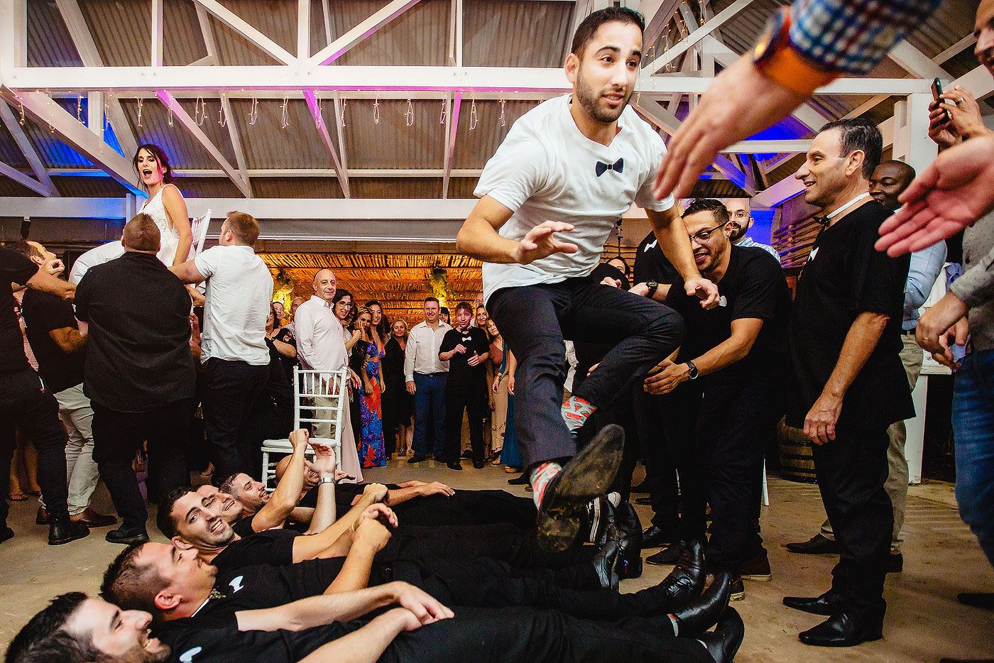 Israeli Dancing fun during Jewish Wedding Reception