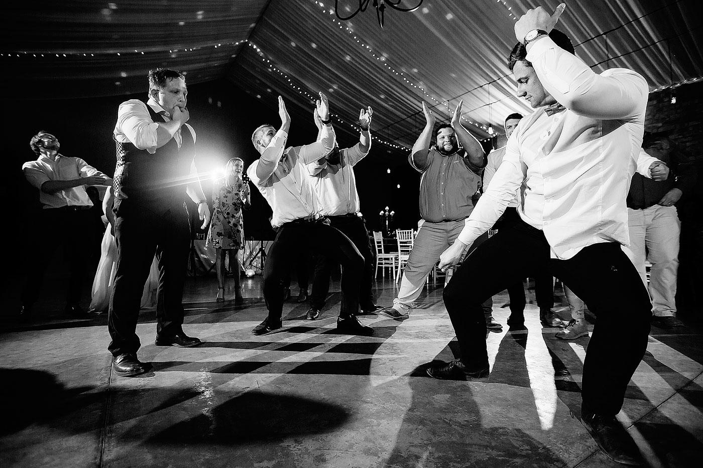 Crazy Dancing between the Groomsmen at South African Wedding.
