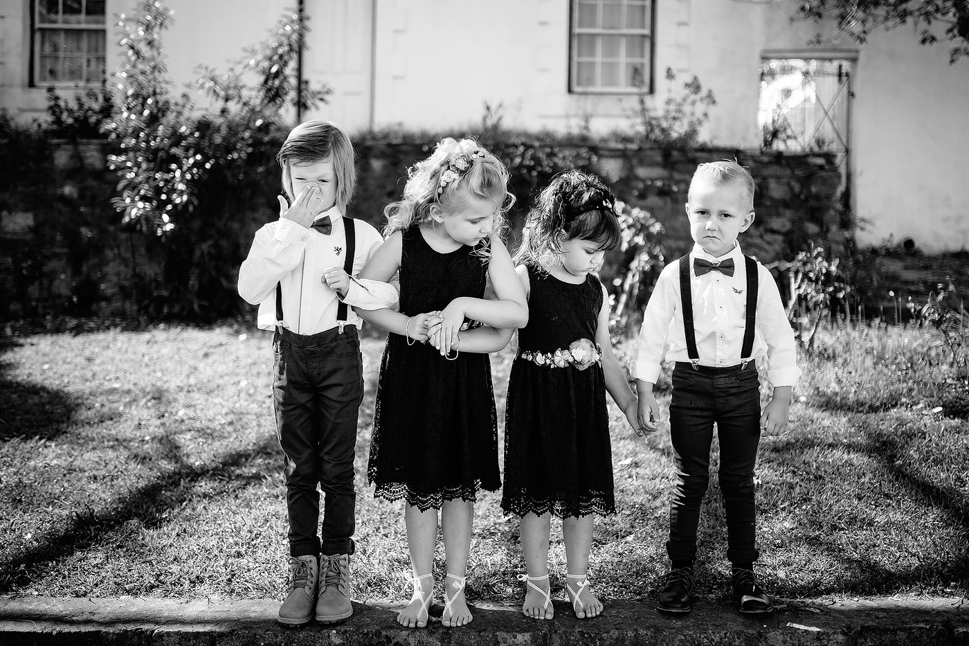 Creative and funny moment between kids at wedding in the Overberg