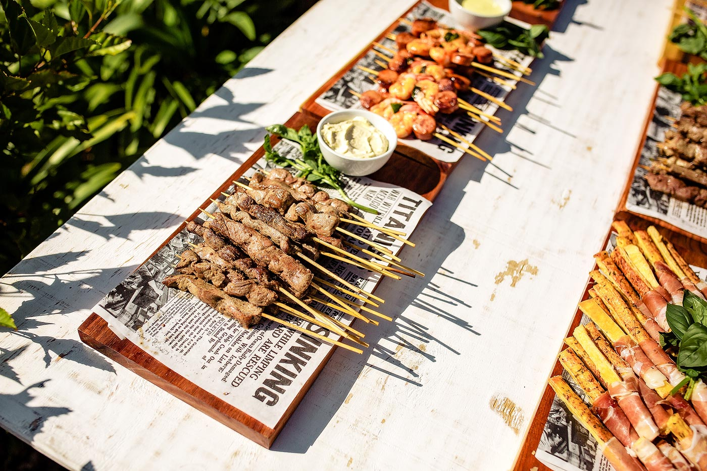 Wedding Canape Finger Food kebabs on a stick