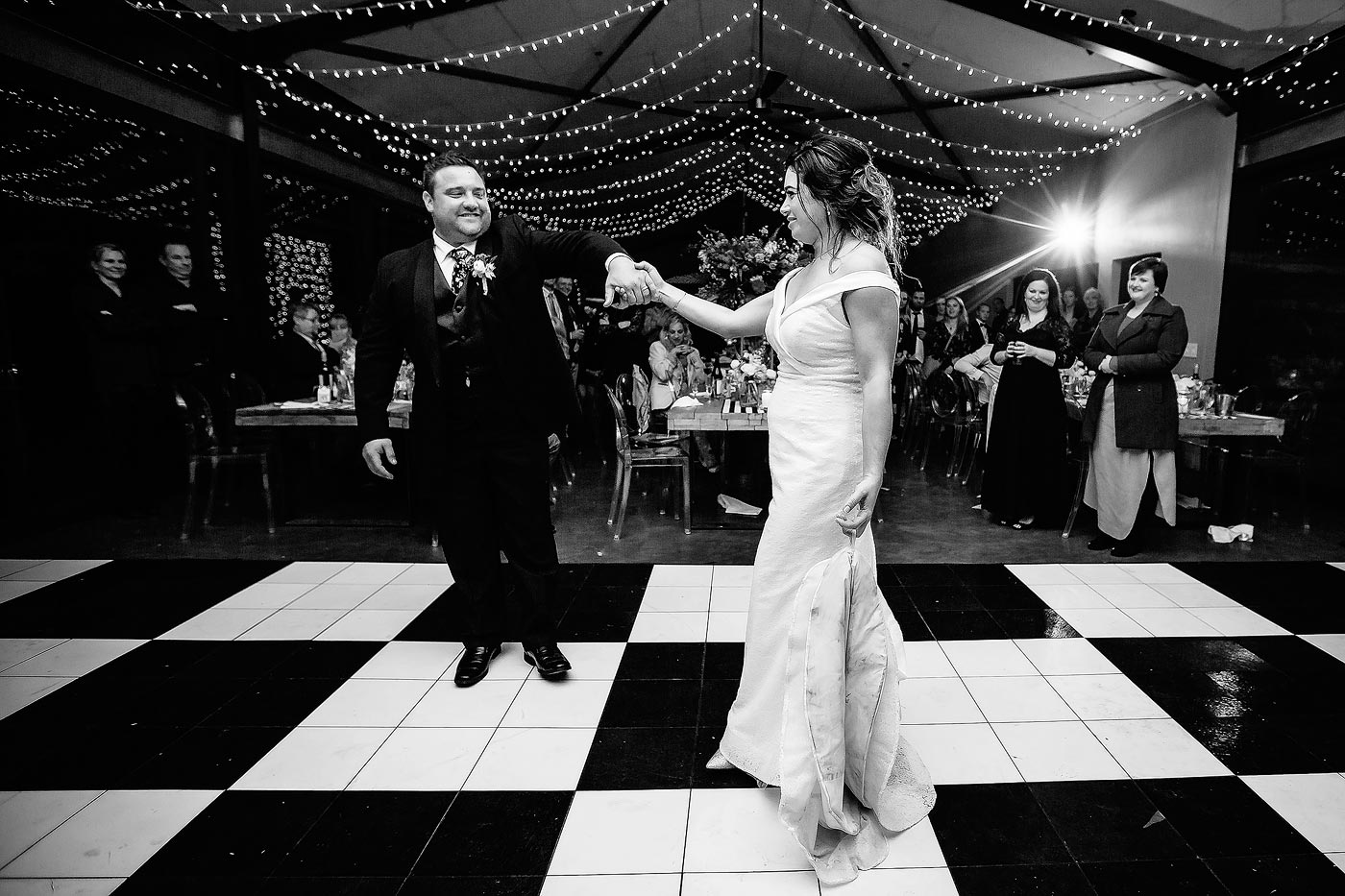 Classic wedding first dance moves on the dancefloor
