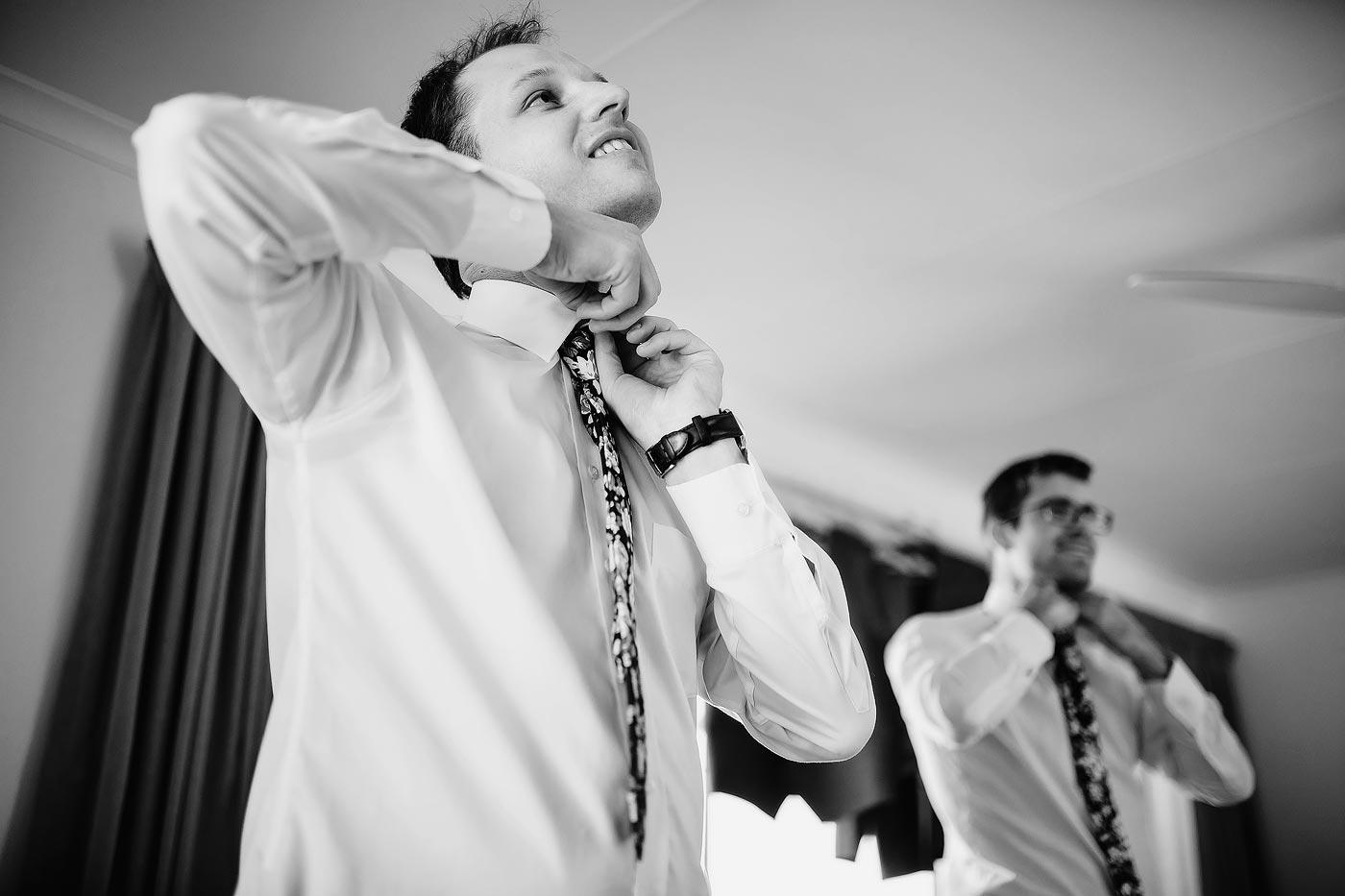 Copy of Groomsmen Preparation with ties before wedding