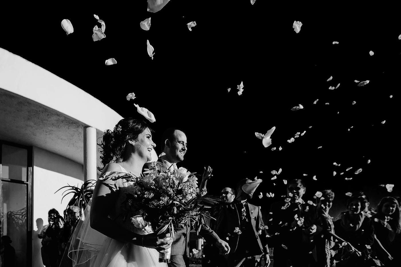 Copy of Creative Confetti Photo with Rose Petals at the beach venue.