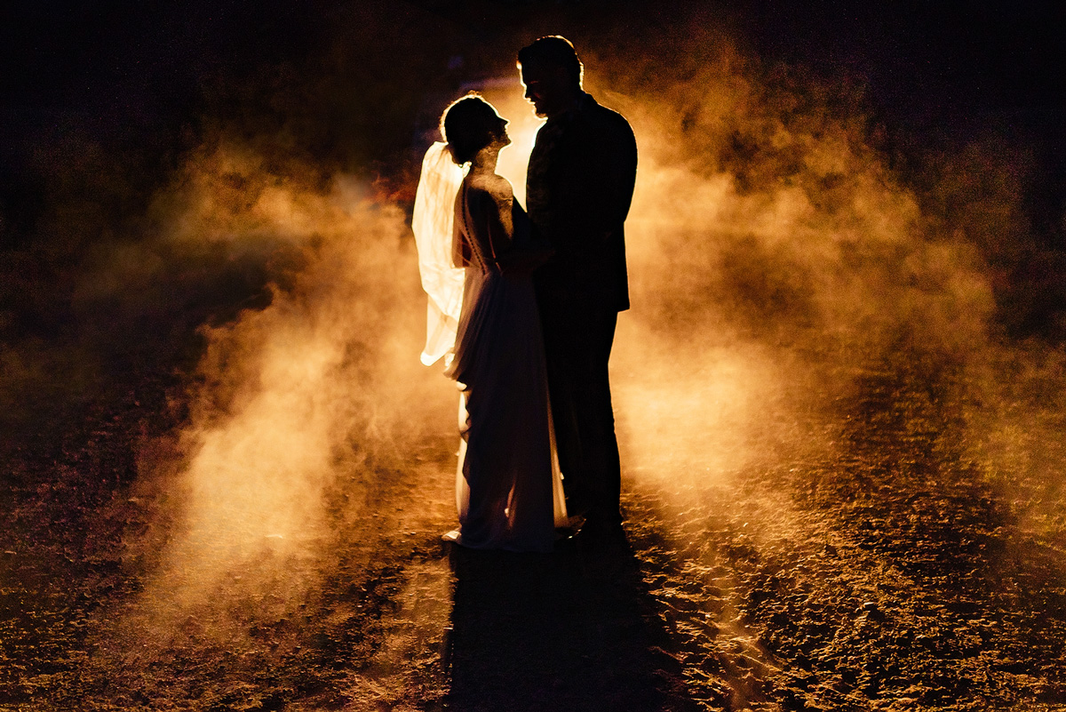 Wedding Couple Creative Portraits at Night in the Eastern Cape