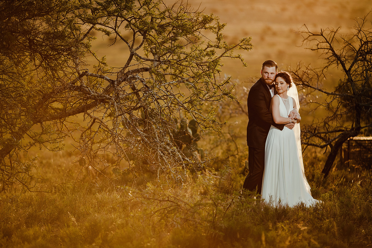 An intimate South African Wedding Elopement which featured a perfect African sunset with Marcus and Katlyn on a game ranch outside Adelaide in the Eastern Cape of South Africa.