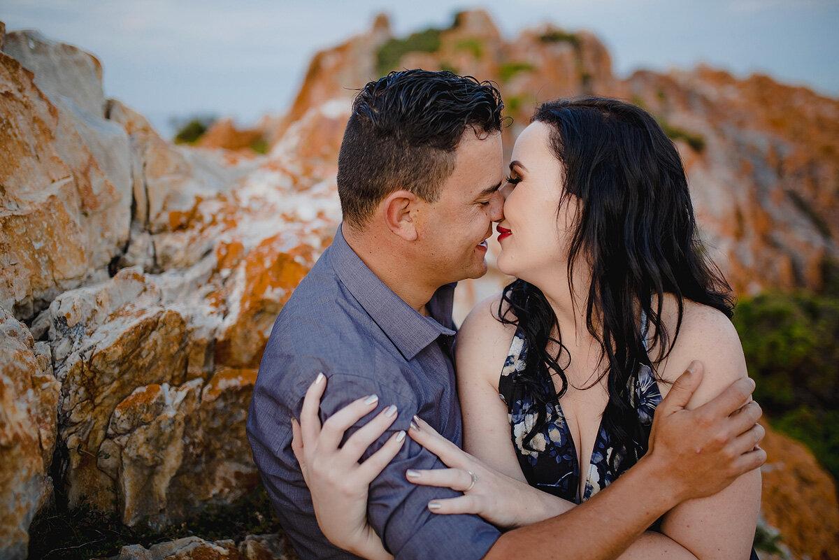 Intimate loving engagement photo