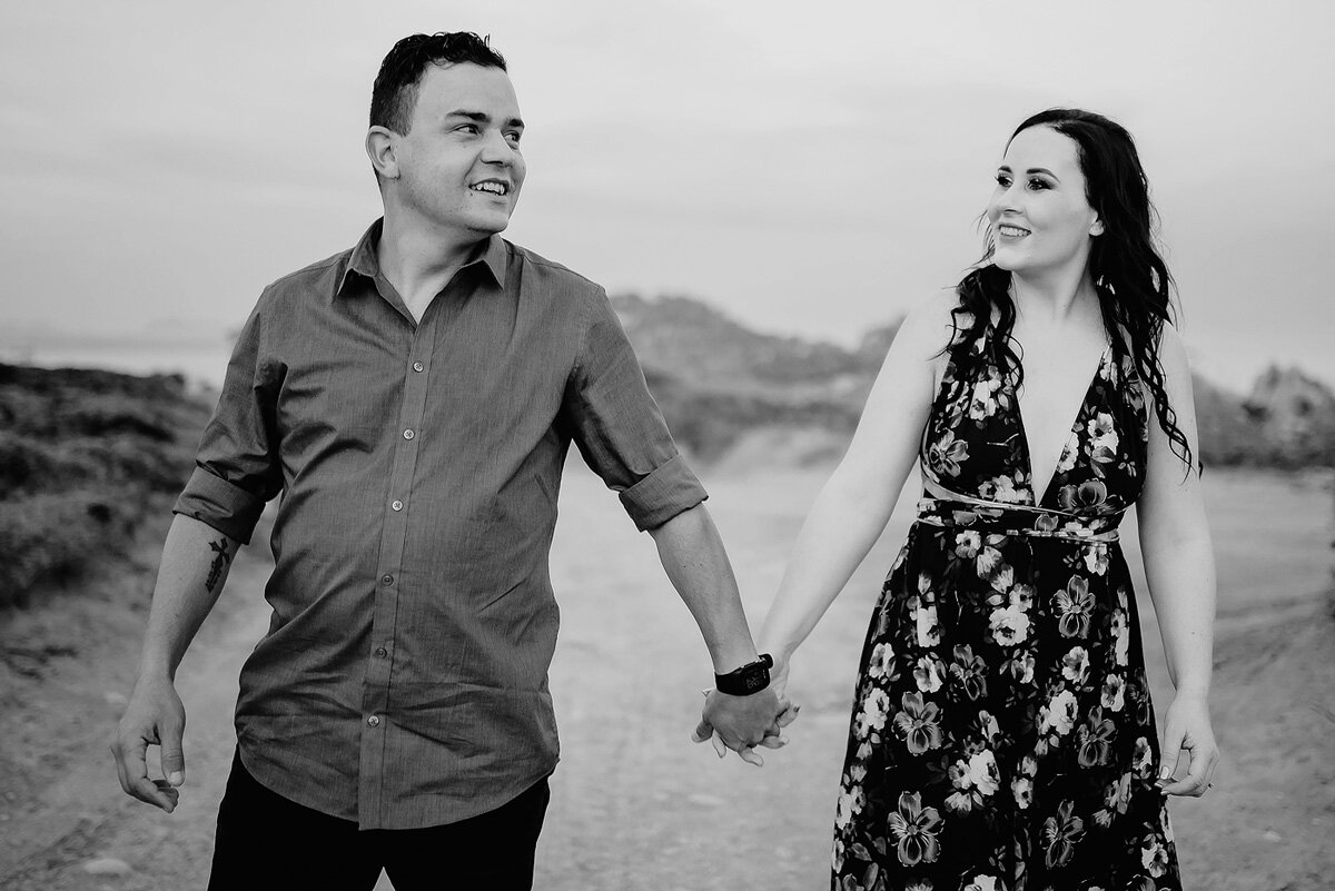 Moment photography couple portraits in black and white