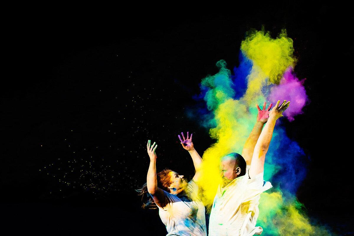 Creative Colourful and Fun Couple Photo