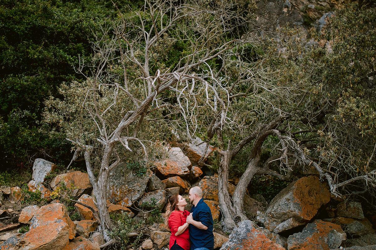 Nature inspired couple engagement photo