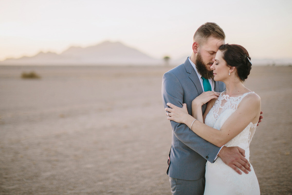 Intimate and classic wedding photography in Namibia