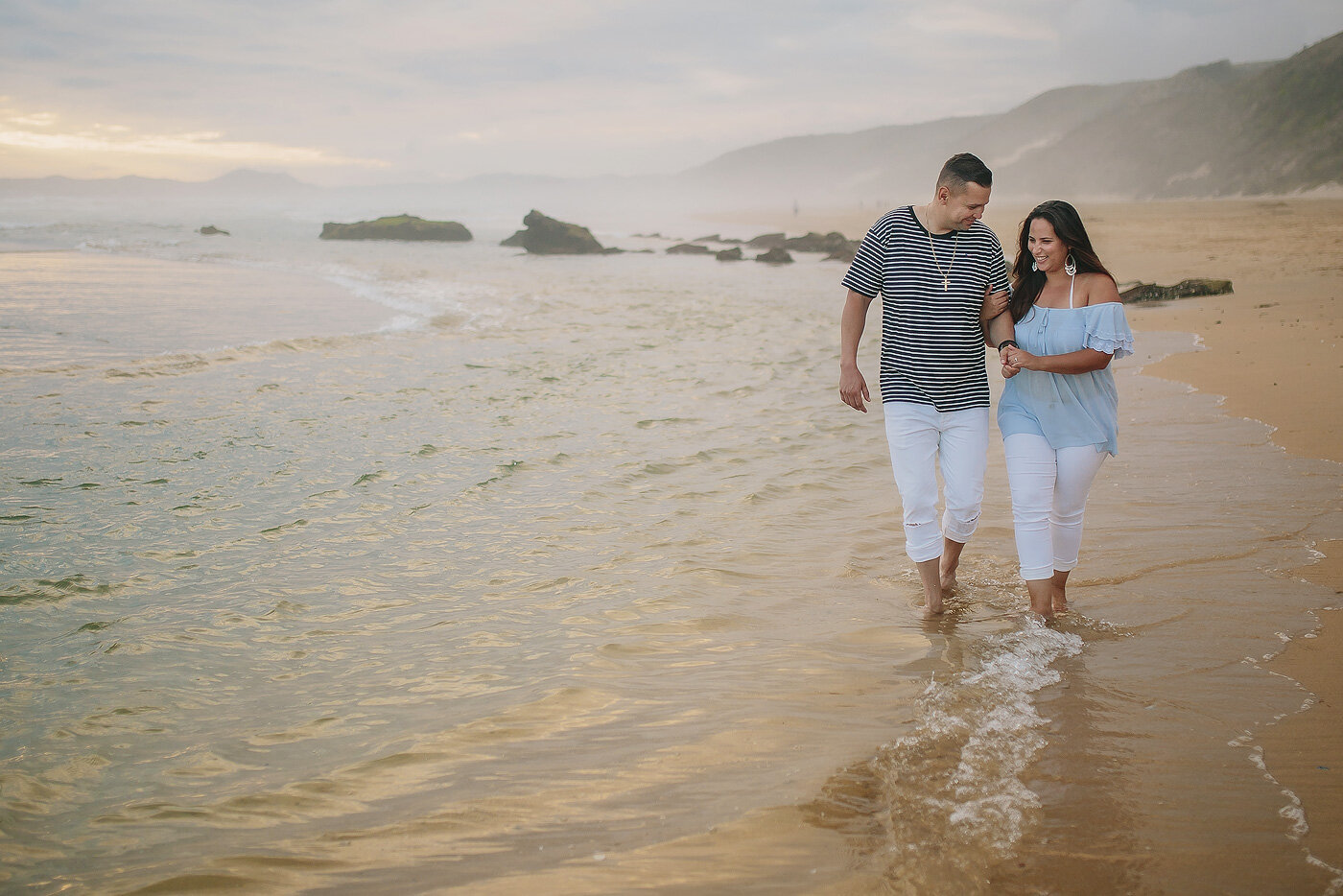 Ocean Couple Portraits at Brenton on Sea in Knysna.