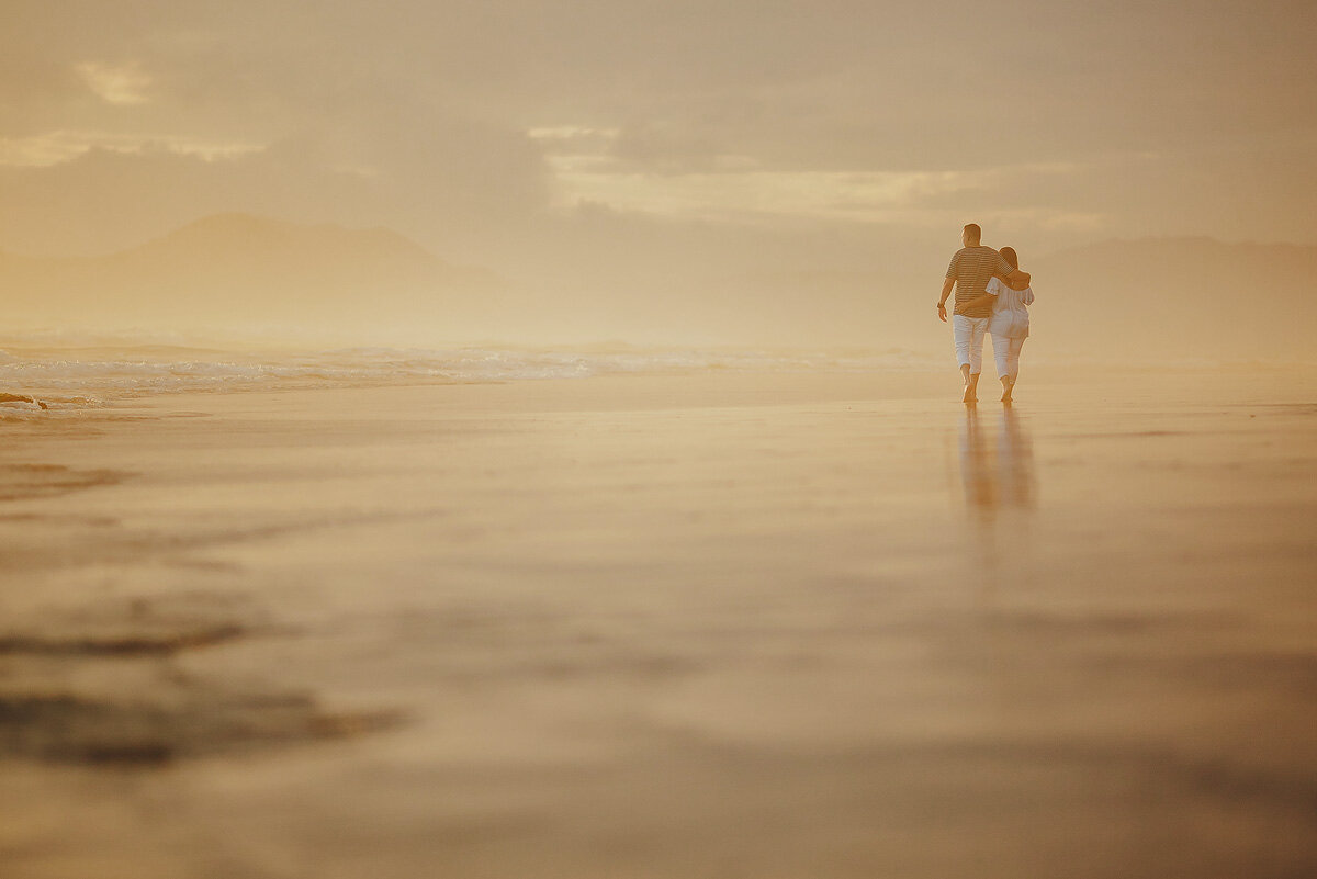 Sunset Couple Engagement Photos on the beach in Knysna South AFrica.