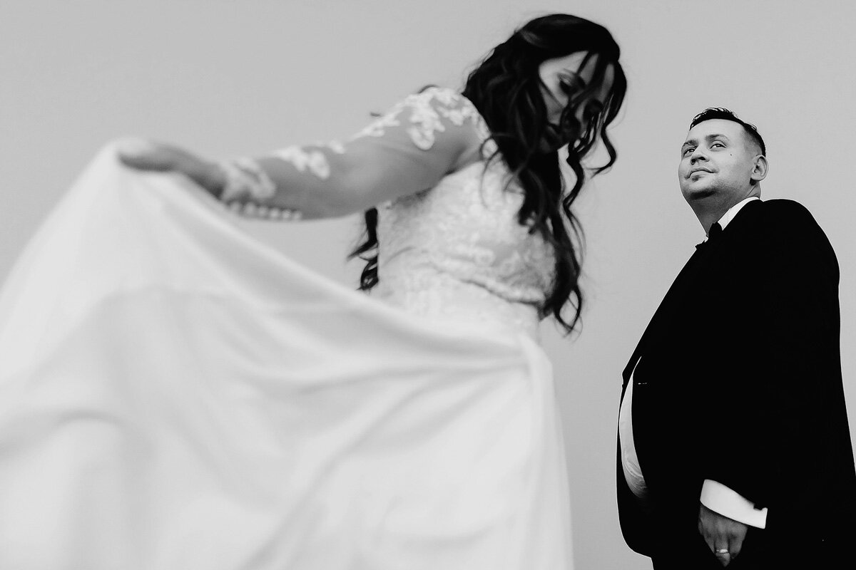 Creative Bride and Groom wedding portraits in the Northern Cape.